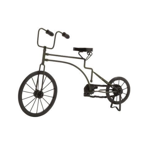 """Studio 350 Eclectic Glossed Iron Bicycle Sculpture, 12"""" x 17"""""""