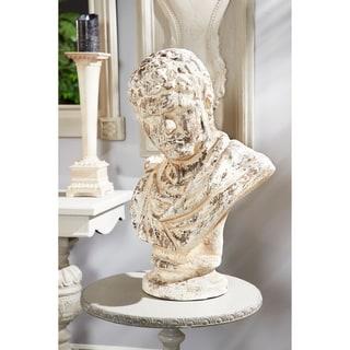 "Studio 350 Distressed Vintage Roman Bust Resin Sculpture, 17"" x 26"""