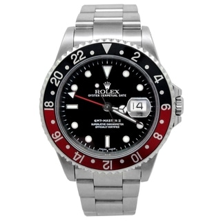 Link to Pre-owned 40mm Rolex Stainless Steel Oyster Perpetual GMT-Master II with Black Dial - N/A Similar Items in Men's Watches