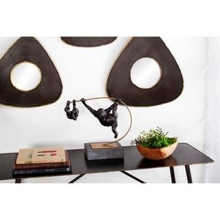 Studio 350 Metal Ape Sculptures on Metallic Branch Table Décor