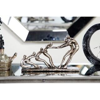 "Studio 350 Metallic Tug of War Human Figurines Shelf Decor Statue, 13"" x 8"""