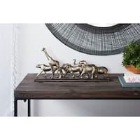 "Studio 350 Metallic Safari Animal Sculptures Table Decor Statue, 20"" x 9"""