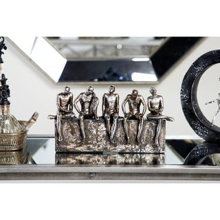 "Studio 350 Textured Human Figurines Sitting Table Decor Statue, 13"" x 7"""
