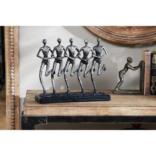 "Studio 350 Textured Human Figurines Running Sculpture on Base, 14"" x 12"""