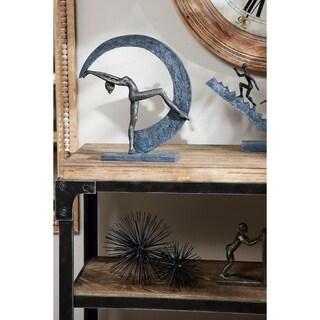"Studio 350  Abstract Dancing Figurine with Crescent Moon Statue, 13.5"" x 14.5"""