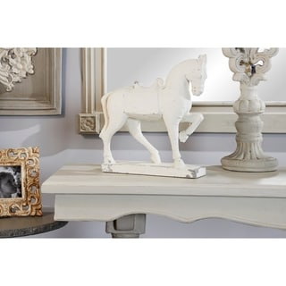 "Studio 350 Distressed Horse Sculpture Shelf Décor, 13"" x 14"""