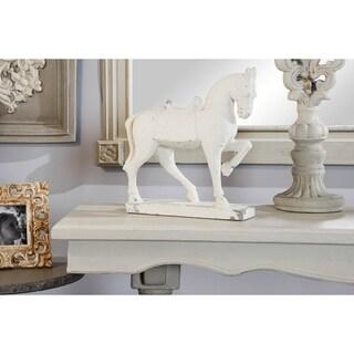 "Studio 350 Distressed Horse Sculpture Shelf Décor, 13"" x 14"""