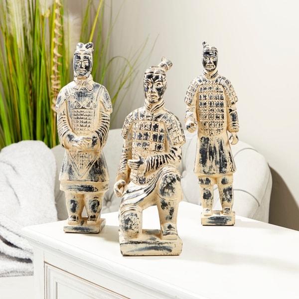 Studio 350 Resin-Cast Terracotta Warrior Sculptures