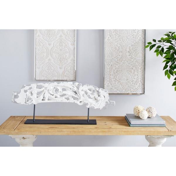 Studio 350 Antique Distressed Acanthus Sculpture Table Décor