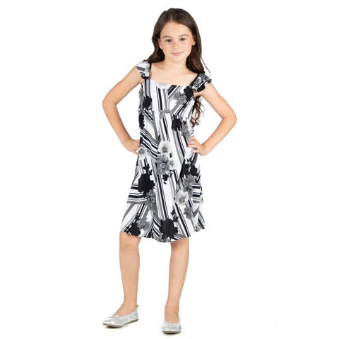 24seven Comfort Apparel Girls Summer Dress Machine Washable