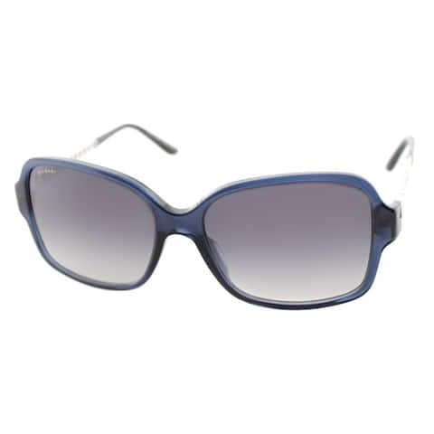Bvlgari Women's 'BV 8125H 52968G' Transparent Dark Blue Sunglasses