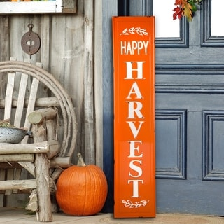 Glitzhome Fall Thanksgiving Wooden Porch Sign