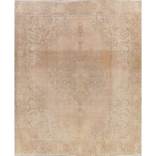 """Tabriz Oriental Hand Knotted Antique Muted Distressed Persian Rug Wool - 12'1"""" x 9'10"""""""