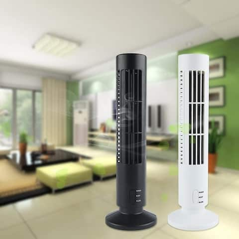 USB Tower-shaped Fan Air Conditioner Silent Mute Cooler Fan Tower Bladeless Desk Fan