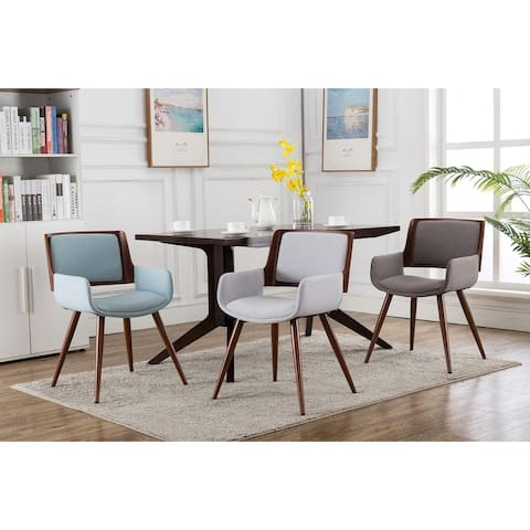 Porthos Home Finnick Dining Chair, Fabric Upholstery, Solid Steel Legs