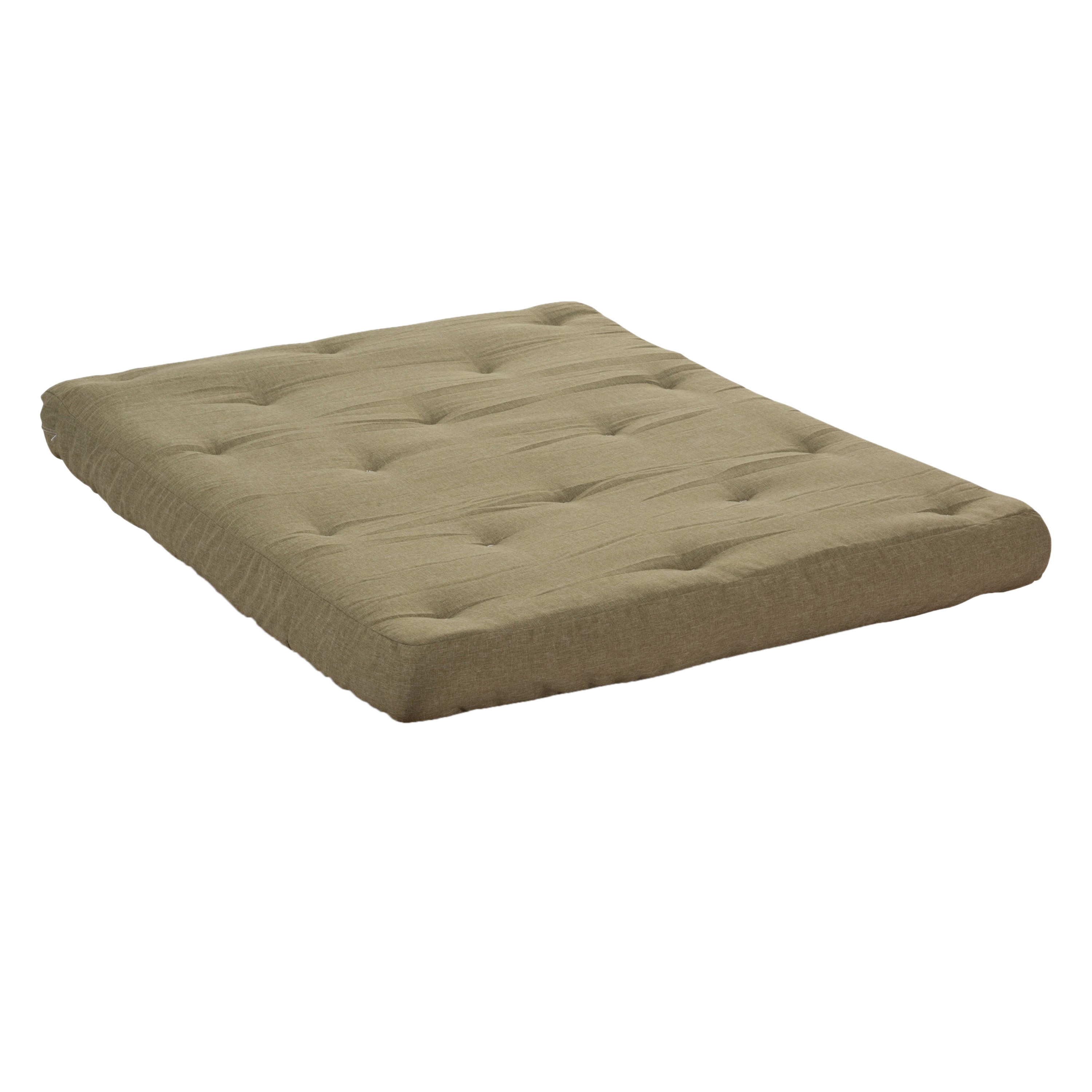 Wolf Corporation S Usf 2 6 Inch Loft Cotton And Certipur Foam Upholstered Futon Mattress