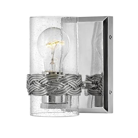 Hinkley Nevis 1-Light Vanity in Polished Nickel