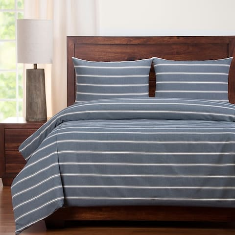 Revolution Plus Everlast Hamilton Navy Stain Resistant Duvet Cover