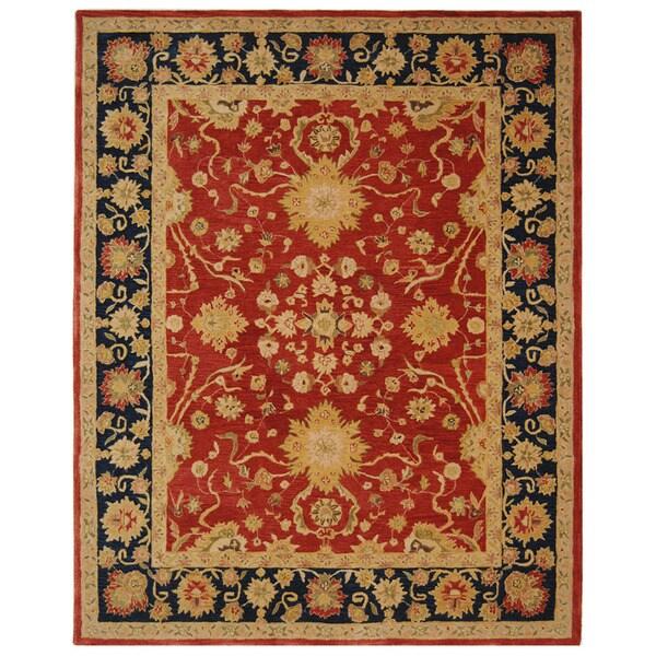 Safavieh Handmade Oushak Traditional Red Wool Rug (9'6 x 13'6)