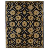 Safavieh Handmade Anatolia Oriental Medallions Navy Hand-spun Wool Rug (9'6 x 13'6)