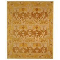 Safavieh Handmade Anatolia Oriental Traditional Beige/ Gold Hand-spun Wool Rug (9'6 x 13'6)