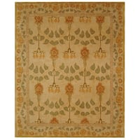 Safavieh Handmade Anatolia Oriental Traditional Ivory/ Green Hand-spun Wool Rug - 9'6 x 13'6