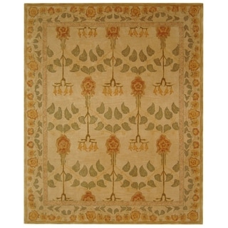 Safavieh Handmade Anatolia Elisabeth Traditional Oriental Wool Rug (96 x 136 - Ivory)