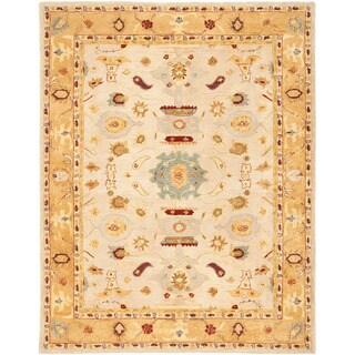 Safavieh Handmade Anatolia Oriental Traditional Ivory/ Gold Hand-spun Wool Rug (9'6 x 13'6)