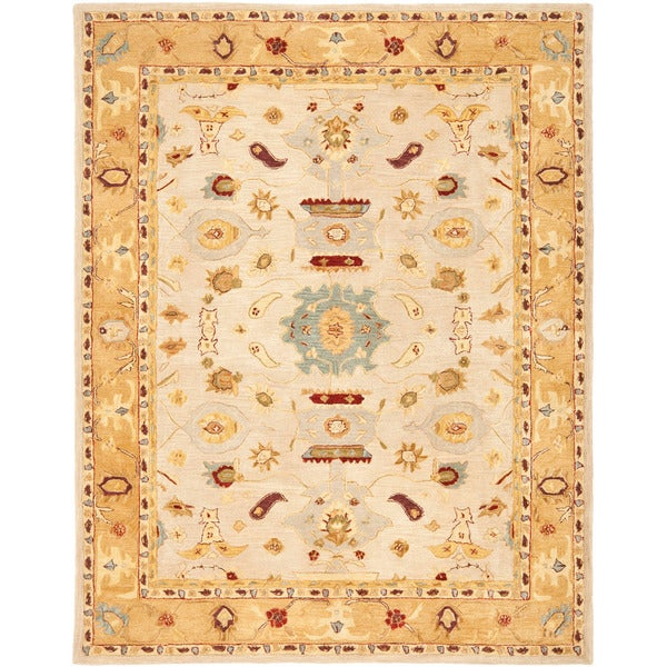 Safavieh Handmade Tribal Ivory/ Gold Wool Rug (9'6 x 13'6)
