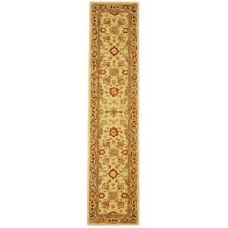 Safavieh Handmade Anatolia Oriental Heirloom Ivory Hand-spun Wool Runner (2'3 x 12')