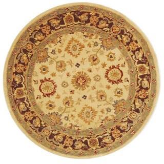 Safavieh Handmade Anatolia Oriental Heirloom Ivory Hand-spun Wool Rug (6' Round)