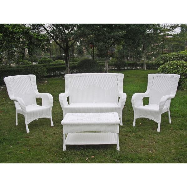 International Caravan San Tropez 4-piece Outdoor Seating Group