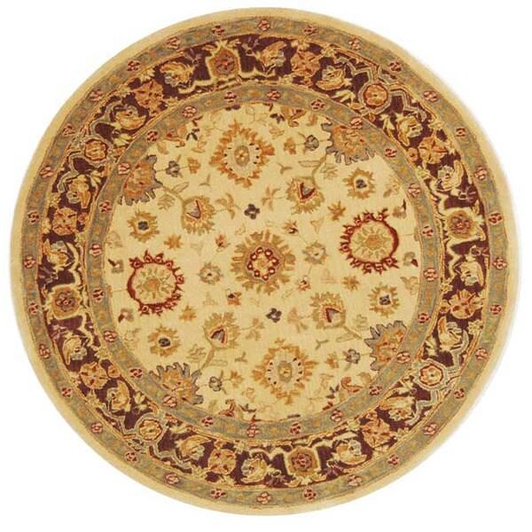 Safavieh Handmade Heirloom Ivory Wool Rug (8' Round)