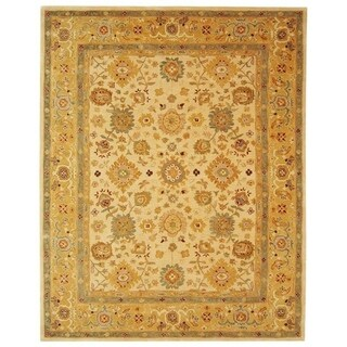 Safavieh Handmade Anatolia Oriental Heirloom Ivory/ Gold Hand-spun Wool Rug (9'6 x 13'6)