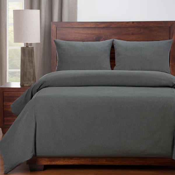 Copper Grove Taynin Stain-resistant Slate Grey Duvet Cover. Opens flyout.