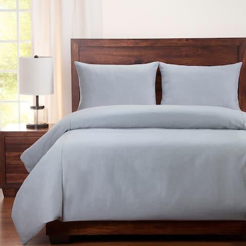 Copper Grove Edam Solid Stain-resistant Duvet Cover