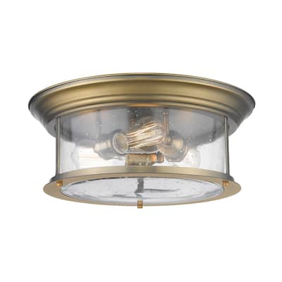Sonna 3 Light Flush Mount in Heritage Brass