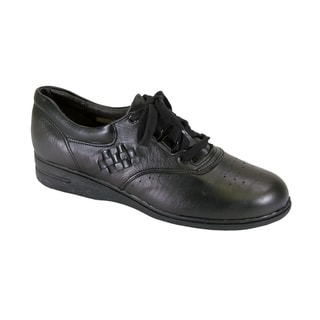 24 HOUR COMFORT Dee Wide Width Leather Lace Up Comfort Oxford Shoes