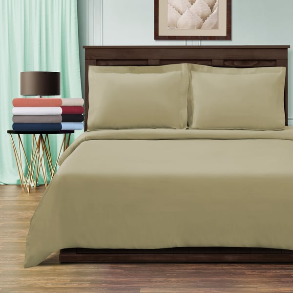 Superior 100-percent Premium Long-staple Combed Cotton 800 Thread Count Solid 3-piece Duvet Cover Set