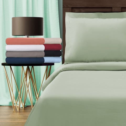Superior Egyptian Cotton 800 Thread Count Solid Duvet Cover Set
