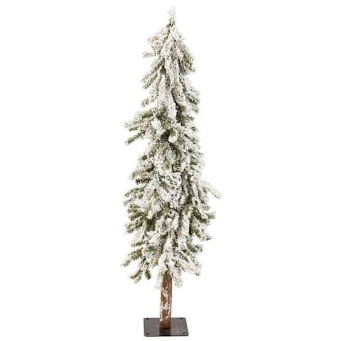 Direct Export 4' Alpine Medium Flocked Tree