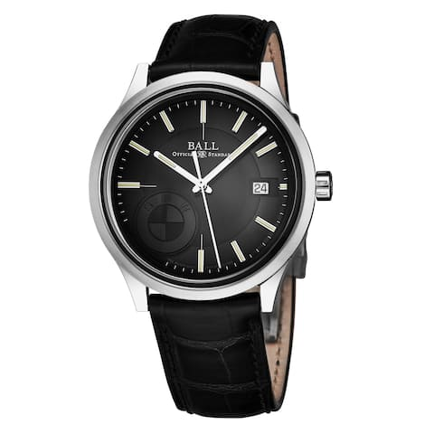 Ball Men's NM3010D-LCFJ-BK 'BMW Classic' Black Dial Black Leather Strap Swiss Made Mechanical Automatic Watch