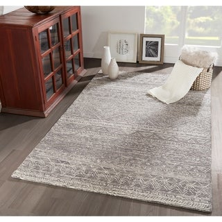 Porch & Den Loftis Hand-hooked Geometric Pattern Wool Area Rug