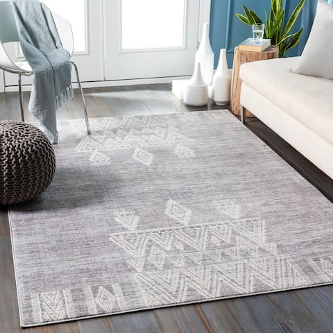 Darius Distressed Bohemian Medallion Area Rug