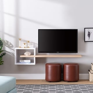 Link to Penny Modern Wall-Mount Media Shelf Similar Items in TV Stands & Entertainment Centers