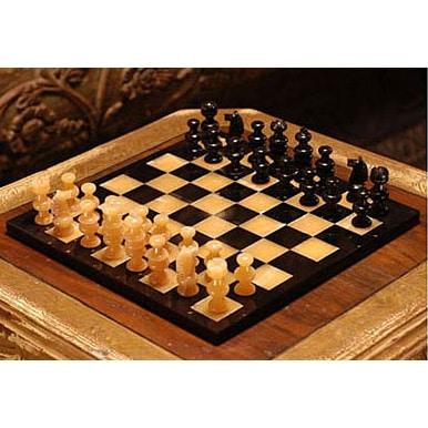 Shop Handmade Orange Onyx And Black Chess Set Mexico