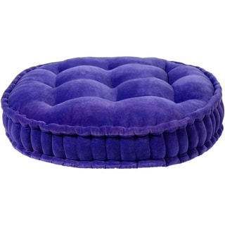 The Curated Nomad Atlanta 30-inch Violet Round Tufted Velvet Floor Pillow