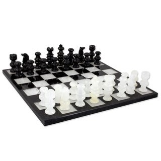 Link to Handmade Classic Onyx and Marble Decorative Chess Set (Mexico) Similar Items in Board Games