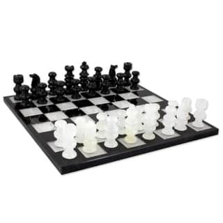 Classic Handmade Onyx/ Marble Decorative Chess Set (Mexico)|https://ak1.ostkcdn.com/images/products/2859360/P11036522.jpg?impolicy=medium