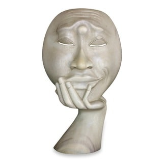 Handmade 'Man in Thought' Sculpture (Indonesia)
